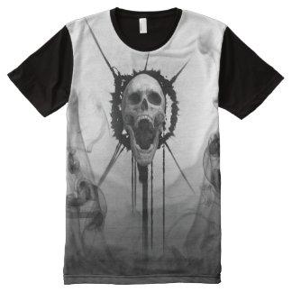 Camiseta Com Impressão Frontal Completa T-shirt eterno gritando do gritar da morte do