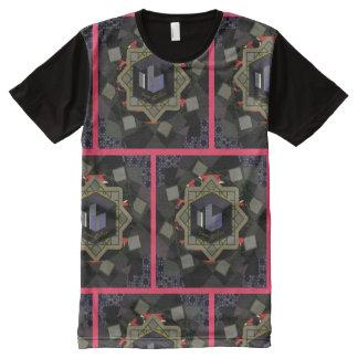 Camiseta Com Impressão Frontal Completa T-shirt impresso coroa do painel