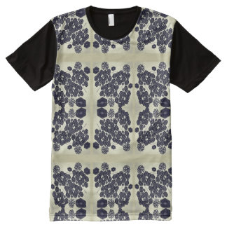Camiseta Com Impressão Frontal Completa T-shirt impresso do painel
