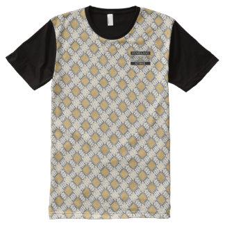Camiseta Com Impressão Frontal Completa T-shirt moderno do desenhista das bolinhas do ouro