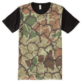 Camiseta Com Impressão Frontal Completa T-shirt na moda de PAGA™ Camo KTM