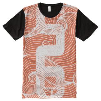 Camiseta Com Impressão Frontal Completa T-shirt na moda do teste padrão KTM de PAGA™ 56