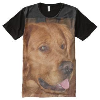 Camiseta Com Impressão Frontal Completa T-shirt unisex do golden retriever