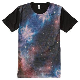 Camiseta Com Impressão Frontal Completa Teste padrão da galáxia