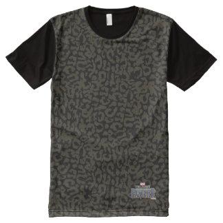 Camiseta Com Impressão Frontal Completa Teste padrão da pantera da pantera preta | Erik