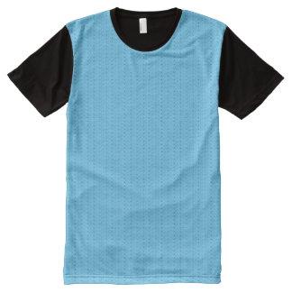 Camiseta Com Impressão Frontal Completa Teste padrão do azul de Extropix