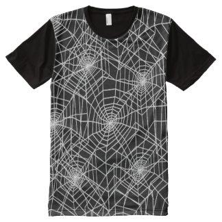 Camiseta Com Impressão Frontal Completa Teste padrão legal das Web de aranha
