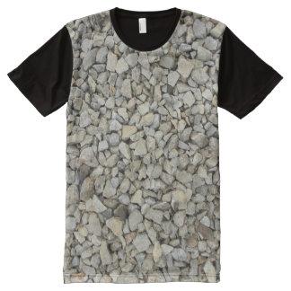 Camiseta Com Impressão Frontal Completa Textura do cascalho