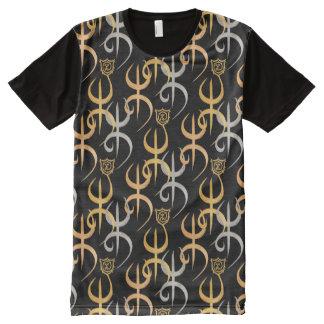 Camiseta Com Impressão Frontal Completa Tri_Golden Tifinagh