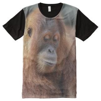 Camiseta Com Impressão Frontal Completa Tshirt do orangotango