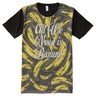 Camiseta Com Impressão Frontal Completa Tudo que nós precisamos é lado do preto um da