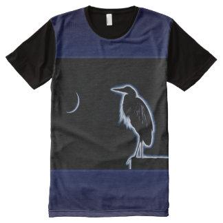 Camiseta Com Impressão Frontal Completa Um fundo azul elétrico do azul da
