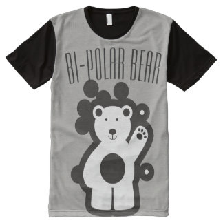 Camiseta Com Impressão Frontal Completa Urso bipolar 101