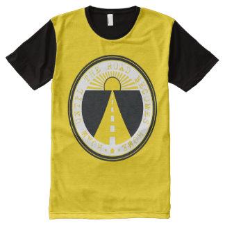 Camiseta Com Impressão Frontal Completa vagueie até que a estrada se transforme casa