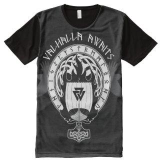 Camiseta Com Impressão Frontal Completa Valhalla espera