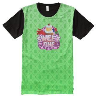 Camiseta Com Impressão Frontal Completa Verde doce do tempo todo o t-shirt impresso