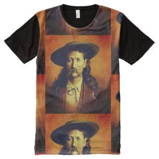 Camiseta Com Impressão Frontal Completa Vintage Wild Bill Hickok por todo o lado no