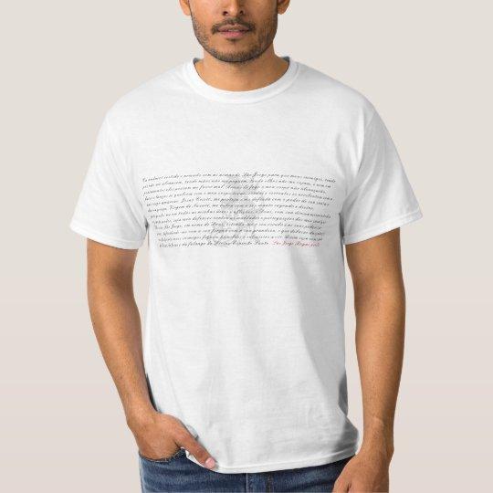 Camiseta com oração São Jorge
