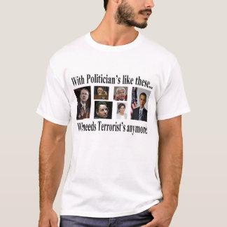 Camiseta Com políticos goste destes