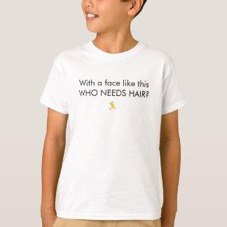 Camiseta Com uma cara goste disto que precisa o cabelo?