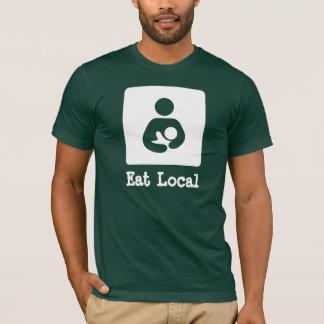 Camiseta Coma a amamentação do Local/ícone dos cuidados
