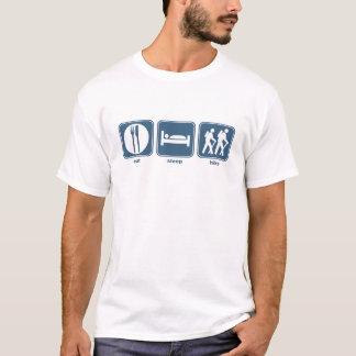 Camiseta coma a caminhada do sono