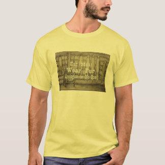 Camiseta Coma a carne, t-shirt da pele do desgaste