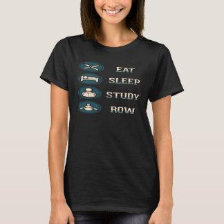Camiseta Coma a fileira do estudo do sono - enfileirando a