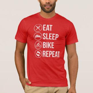 Camiseta Coma a repetição da bicicleta do sono