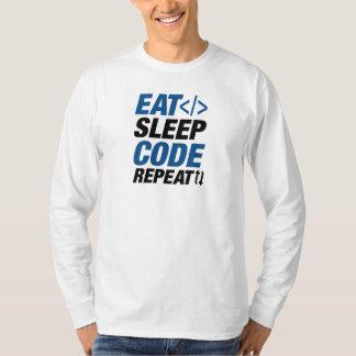Camiseta Coma a repetição do código do sono