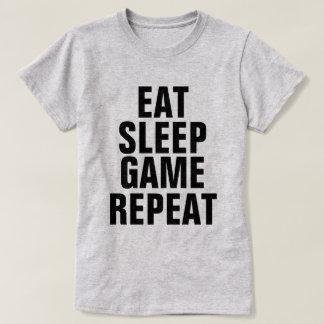 Camiseta Coma a repetição do jogo do sono