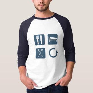 Camiseta Coma a repetição do Lacrosse do sono
