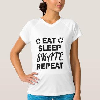 Camiseta Coma a repetição do skate do sono, rolo Derby