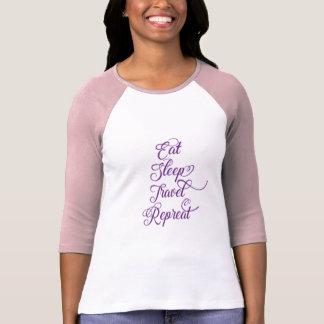 Camiseta Coma a repetição do viagem do sono