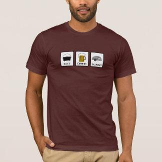 "Camiseta ""Coma, beba, durma"" acampamento da lágrima"