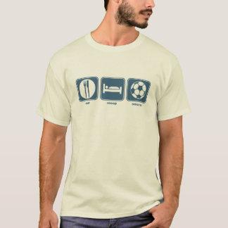 Camiseta coma, durma, futebol