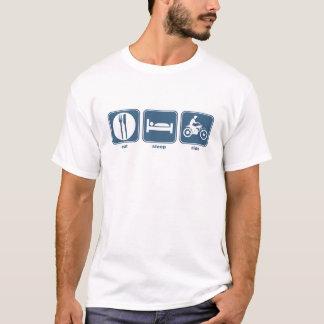 Camiseta coma, durma, monte