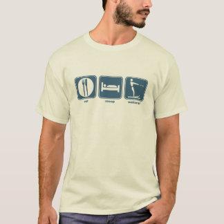 Camiseta coma, durma, waterski