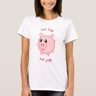 Camiseta Coma figos, não porcos que || vão vegan