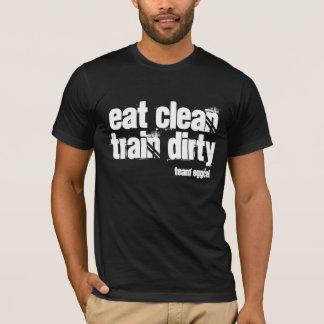 Camiseta coma limpo e o trem sujo é sua divisa