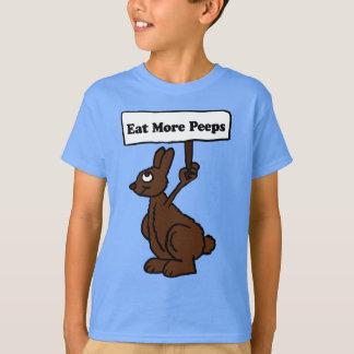 Camiseta Coma mais coelho do chocolate das espreitadelas