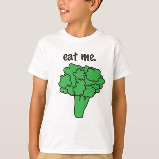 Camiseta coma-me. (brócolos)