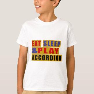 Camiseta Coma o ACORDEÃO do sono e do jogo