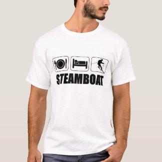 Camiseta Coma o barco a vapor do esqui do sono