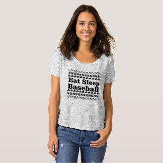 Camiseta coma o basebol do sono