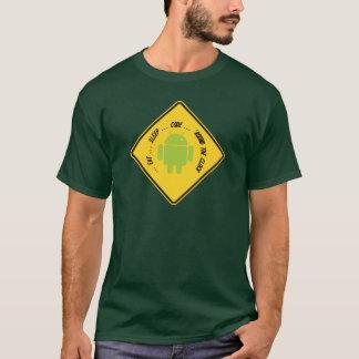 Camiseta Coma… o código do sono…… 'em volta do pulso de
