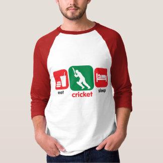 Camiseta Coma o críquete, críquete do sono