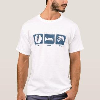Camiseta coma o deslize do sono