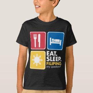 Camiseta Coma o filipino do sono - cores