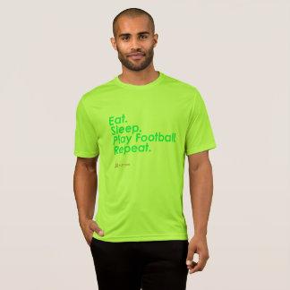 Camiseta Coma o futebol do jogo do sono supremo